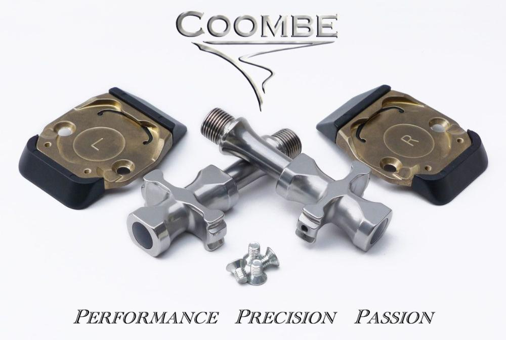 CoombeCoombe  Millennium II low profile, high performance, lightweight, clipless bicycle pedals.